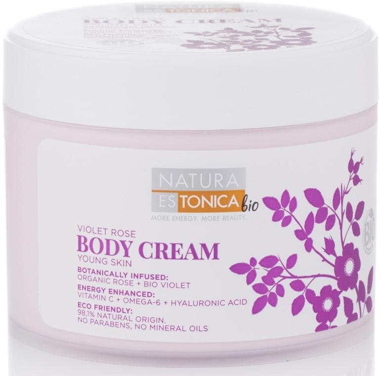 Cremă de corp, cu extract de trandafir - Natura Estonica Violet Rose Body Cream — Imagine N1
