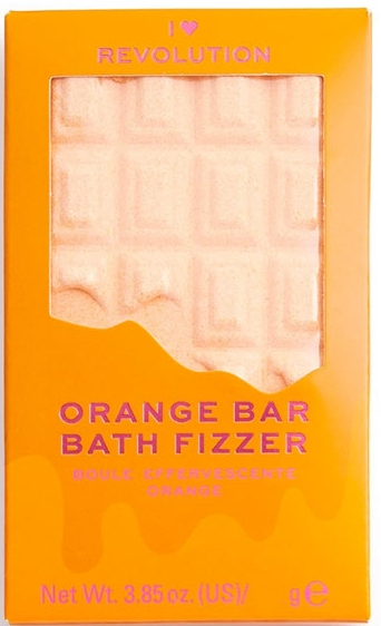 "Bombă de baie - I Heart Revolution Chocolate Bar Bath Fizzer ""Orange"" — Imagine N1"