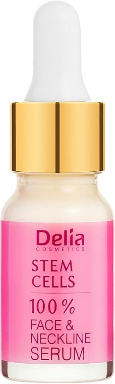 Ser antirid cu acid-hialuronic și celule stem pentru față și gât - Delia Face Care Stem Sells Face Neckline Intensive Serum