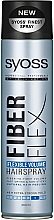 "Parfumuri și produse cosmetice Lac de păr ""Volum elastic"" - Syoss Fiber Flex Flexible Volume Hair Spray"