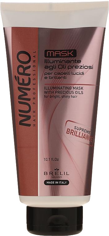 Mască cu ulei prețioase pentru păr - Brelil Numero Illuminating Mask With Precious Oils