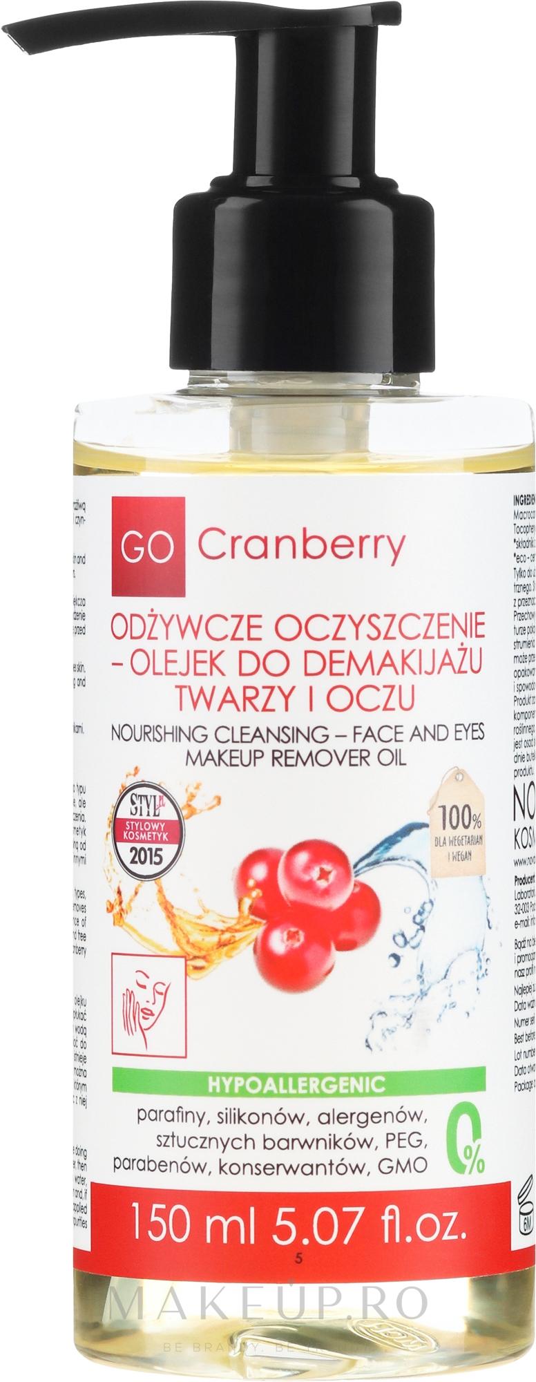 Ulei de curățare pentru față - GoCranberry — Imagine 150 ml