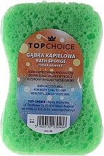 """Parfumuri și produse cosmetice Burete de baie """"Motyl"""" 30406, alb + turcoaz - Top Choice"""