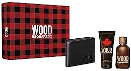 Parfumuri și produse cosmetice Dsquared2 Wood Pour Homme - Set (edt/100ml + sh/gel/100ml + wallet)