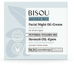 """Parfumuri și produse cosmetice Cremă de noapte """"Revitalizant"""" - Bisou AntiAge Bio Facial Night Oil-Cream"""