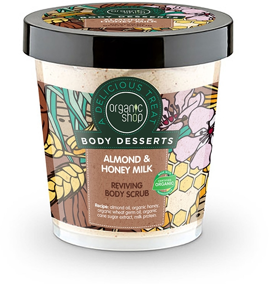 Scrub pentru corp - Organic Shop Body Desserts Almond & Honey Milk — Imagine N1
