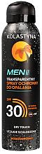 Parfumuri și produse cosmetice Spray pentru bronz pentru bărbați - Kolastyna Suncare Men Spray SPF 30