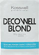 Parfumuri și produse cosmetice Pudră decolorantă pentru păr, albastru - Kosswell Professional Decowell Blond