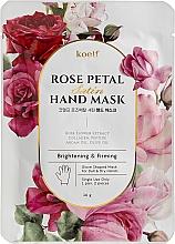 Parfumuri și produse cosmetice Mască mănușă pentru fermitate - Petitfee&Koelf Rose Petal Satin Hand Mask