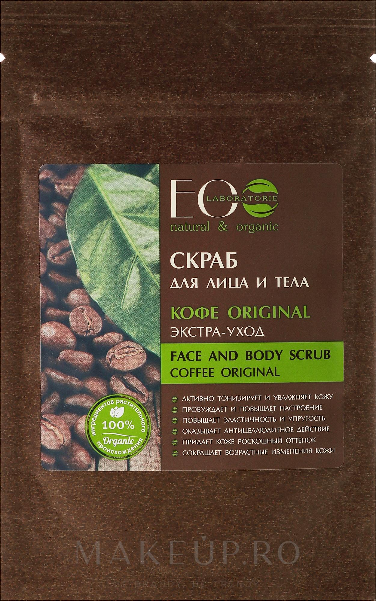 """Scrub pentru față și corp """"Coffe Original"""" - ECO Laboratorie Face and Body Scrub Coffee Original — Imagine 40 g"""
