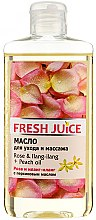 "Parfumuri și produse cosmetice Ulei de corp ""Trandafir. Ylang-Ylang. Piersic"" - Fresh Juice Energy Rose&Ilang-Ilang+Peach Oil"