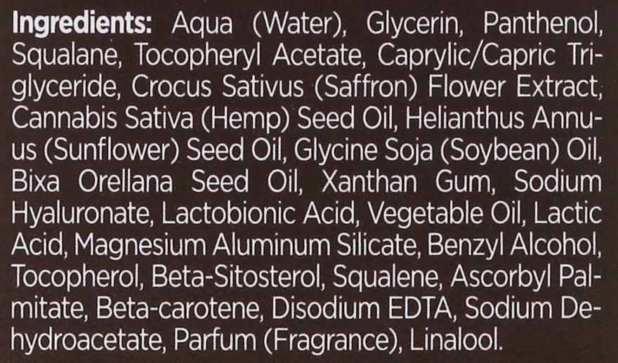 Ser hidratant pentru față - Bielenda Botanic Formula Hemp Oil + Saffron Moisturizing Serum — Imagine N4