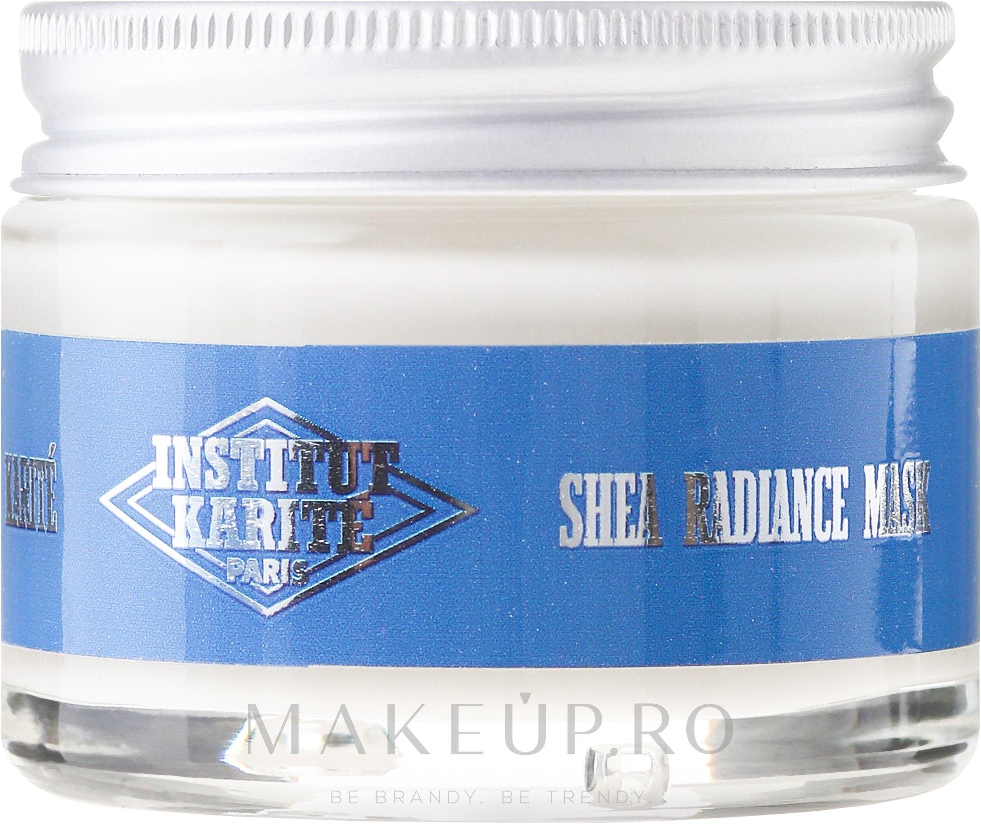 Mască regenerantă de față - Institut Karite Shea Radiance Cream — Imagine 50 ml