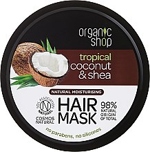 Parfumuri și produse cosmetice Mască de păr - Organic Shop Coconut & Shea Moisturising Hair Mask