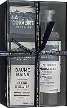 "Parfumuri și produse cosmetice Set cadou ""Provence"" - La Corvette ""Provence"" (soap/100g + soap/250ml + h/cr/75ml)"