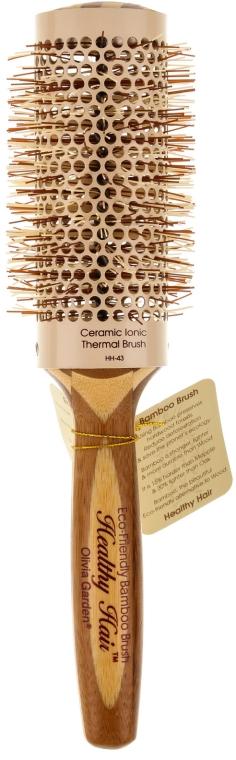 Perie rotundă de păr, d.43 - Olivia Garden Healthy Hair Eco-Friendly Bamboo Brush — Imagine N1