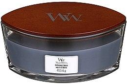 Lumânare aromată în suport de sticlă - Woodwick Hearthwick Flame Ellipse Candle Evening Onyx — Imagine N2