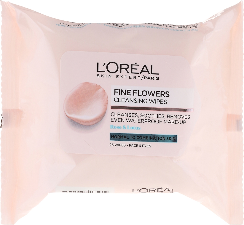 Șervețele pentru demachiere - L'Oreal Paris Skin Expert Fine Flowers Normal Combination Cleansing Wipes