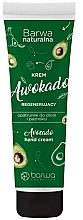 Parfumuri și produse cosmetice Cremă regenerantă pentru mâini și unghii  - Barwa Natural Avocado Hand Cream