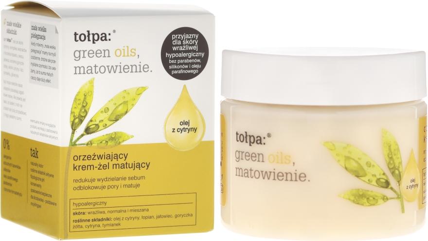 Cremă-gel matifiantă pentru față - Tolpa Green Oils