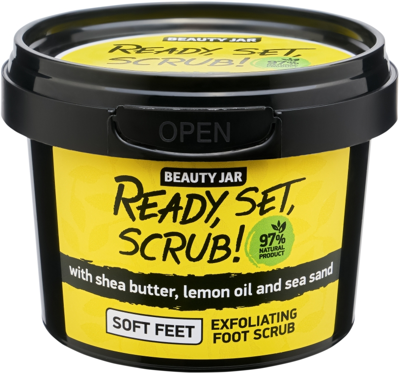 Scrub pentru picioare - Beauty Jar Ready, Set, Scrub! Exfoliating Foot Scrub — Imagine N1