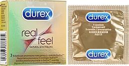 """Parfumuri și produse cosmetice Prezervative """"Senzații naturale"""", 3 buc - Durex Real Feel"""