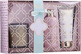 Parfumuri și produse cosmetice Set - Baylis & Harding Pink Prosecco & Elderflower (sh/gel/300ml + b/lot/200ml + candle/200g)