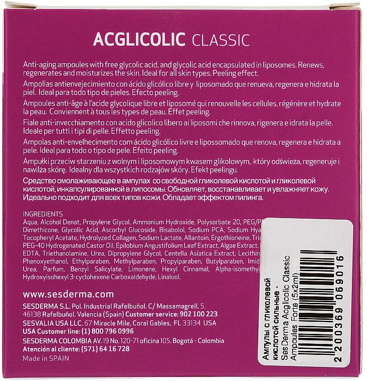 Fiole anti-aging cu acid glicolic - SesDerma Laboratories Acglicolic Classic Ampoules Forte — Imagine N4