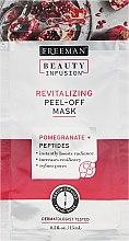 Parfumuri și produse cosmetice Masca regenerantă de față - Freeman Beauty Infusion Revitalizing Peel-Off Mask Pomegranate + Peptides (miniatură)