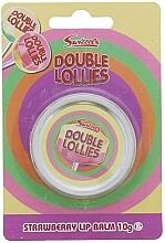 Parfumuri și produse cosmetice Balsam de buze - Swizzels Double Lollies Strawberry Lip Balm