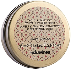 Parfumuri și produse cosmetice Ceară de păr - Davines More Inside This Is A Shine Wax