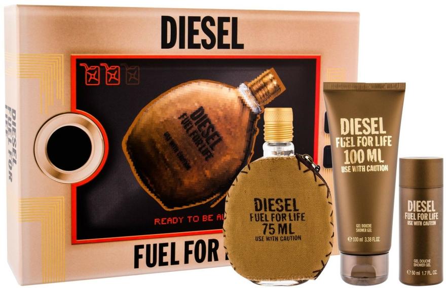 Diesel Fuel for Life Homme - Set (edt/75ml + sh/gel/100ml + sh/gel/50ml) — Imagine N1