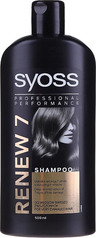 Șampon pentru păr deteriorat - Syoss Renew 7 Complete Repair Shampoo