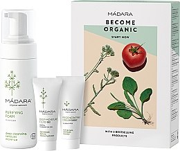 Parfumuri și produse cosmetice Set - Madara Cosmetics Become Organic Starter Set (foam/150ml + fluid/25ml + cr/25ml)