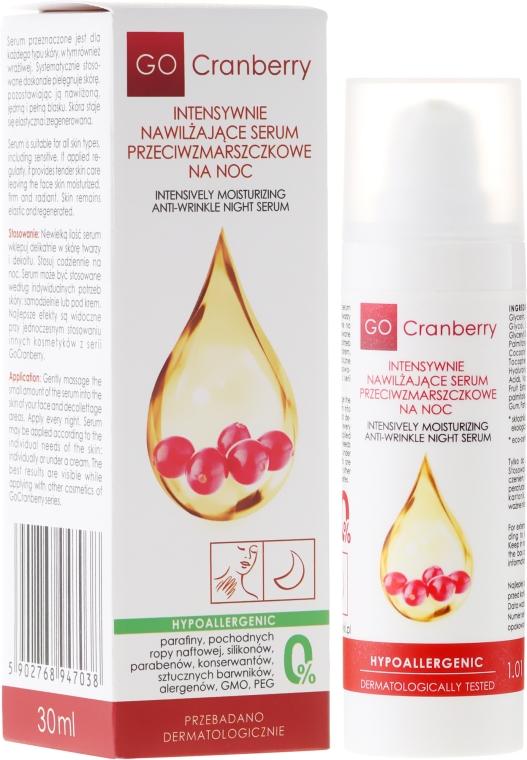 Ser hidratant antirid de noapte - GoCranberry Anti-Wrinkle Night Serum — Imagine N1