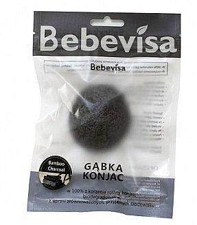 """Burete pentru curățarea feței """"Cărbune de bambus"""" - Bebevisa Konjac Sponge — Imagine N1"""