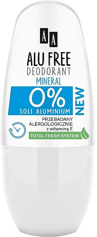 Deodorant - AA Roll-on Alu Free Mineral