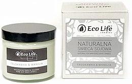 """Parfumuri și produse cosmetice Lumânare parfumată """"Căpșună și vanilie"""" - Eco Life Candles"""