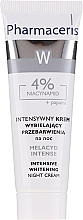 Parfumuri și produse cosmetice Cremă de albirea tenului - Pharmaceris Melacyd Intense Whitening Night Face Cream