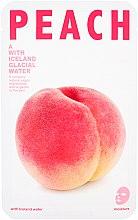 """Parfumuri și produse cosmetice Mască de țesut pentru față """"Piersic"""" - The Iceland Peach Mask"""