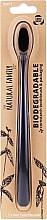 Parfumuri și produse cosmetice Periuță de dinți biodegradabilă, neagră - The Natural Family Co Biodegradable Toothbrush