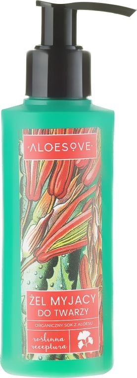 Gel de curățare cu extract organic de aloe vera - Aloesove