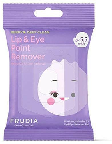 Șervețele micelare pentru demachierea ochilor și a buzelor - Blueberry Micellar 5.5 Lip & Eye Remover Pad — Imagine N1