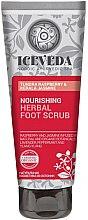 Parfumuri și produse cosmetice Scrub pentru picioare - Natura Siberica Iceveda Tundra Raspberry&Kerala Jasmine Nourishing Herbal Foot Scrub