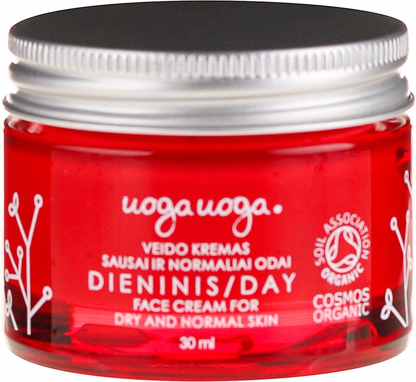 Cremă cu extract de afine și acid hialuconic pentru față - Uoga Uoga Day Face Cream — Imagine N2