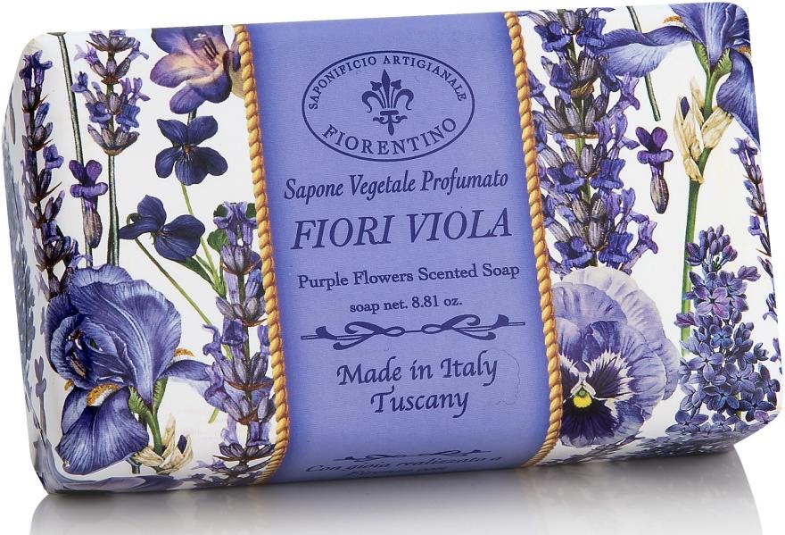 "Săpun natural ""Violetă"" - Saponificio Artigianale Fiorentino Purple Flowers Scented Soap"