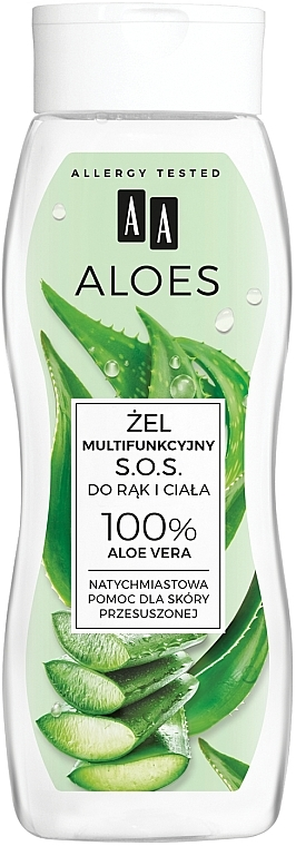 Gel multifuncțional pentru mâini și corp - AA Aloes 100% Aloe Vera Hand And Body SOS Gel