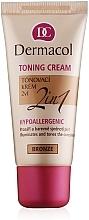 Parfumuri și produse cosmetice Fond de ten hidratant 2 în 1 - Dermacol Make-Up Toning Cream