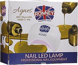 Parfumuri și produse cosmetice Lampă LED pentru unghii, neagră - Ronney Professional Agnes Pro LED 48W (GY-LED-032)
