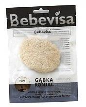 Parfumuri și produse cosmetice Burete pentru curățarea feței, oval - Bebevisa Pure Konjac Sponge